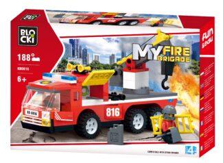 BLOCKI MyFireBrigade Wóz strażacki z hakiem holowniczym
